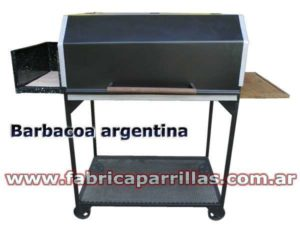 Parrilla Barbacoa Argentina N°1 con fogon, brasero de hierro y mesada.