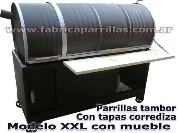 Parrillas de tambor con mueble Modelo XXL