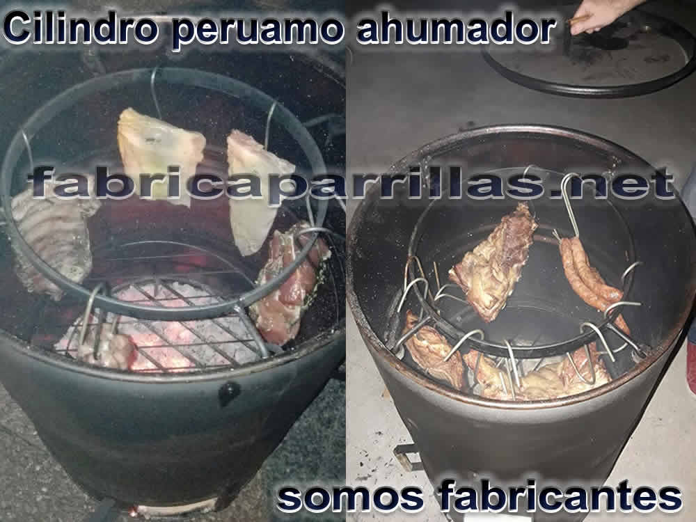 ahumado de carne cilindro peruano.