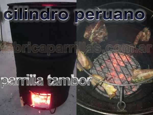 Tambor Peruano Parrilla - Parrillas A Carbón