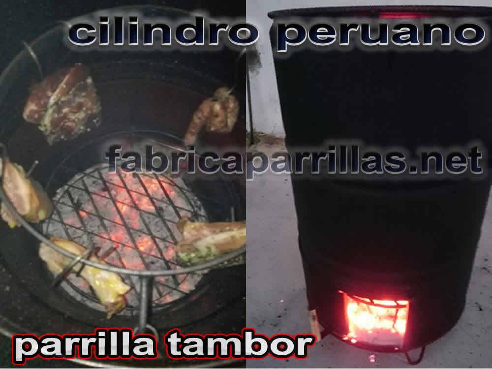cilindro peruano parrillas tambor ahumador asador