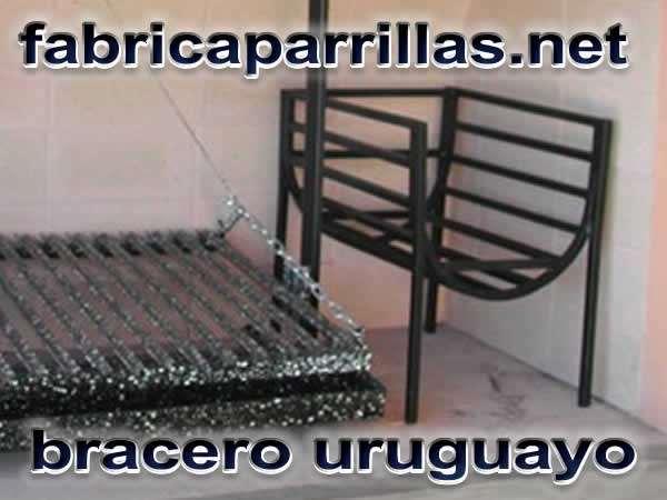 Brasero uruguayo colgante o de pie